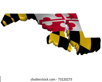 Flag and map of Maryland