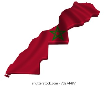 Flag and map of Morocco
