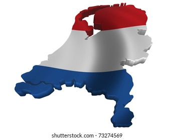Flag and map of Netherlands