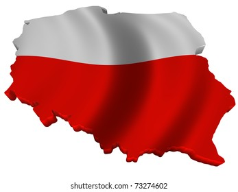 Flag and map of Poland