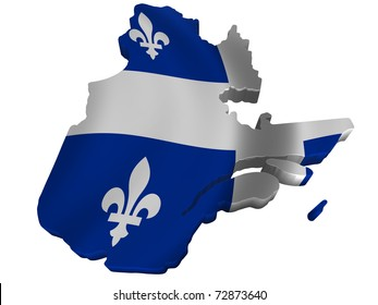 Flag and map of Quebec