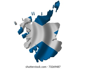 Flag and map of Scotland