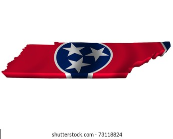 Flag and map of Tennessee