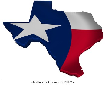 Flag and map of Texas