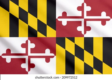 Flag of Maryland waving