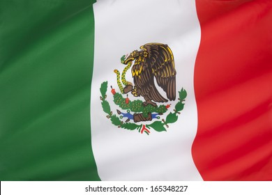 Flag of Mexico. The current flag was adopted in 1968.