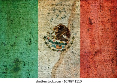 Flag of Mexico on the wall