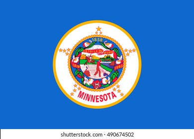 Flag of Minnesota is a state in the Midwestern United States