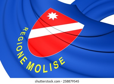 Flag of Molise, Italy. Close Up.