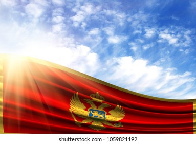 flag of Montenegro in the sun