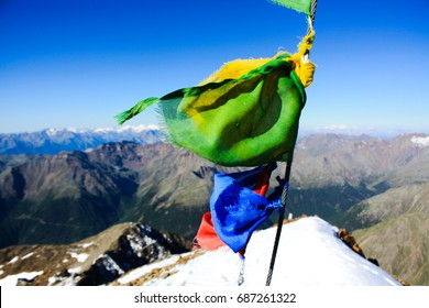 Flag in the mountain