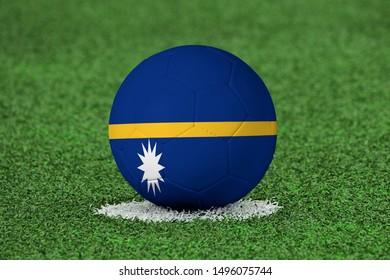 Flag of Nauru on Football Nauru Flag on soccer ball