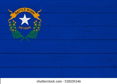 Flag of Nevada on wooden background