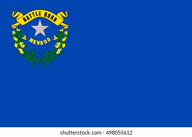 Flag of Nevada state in the Western of United States