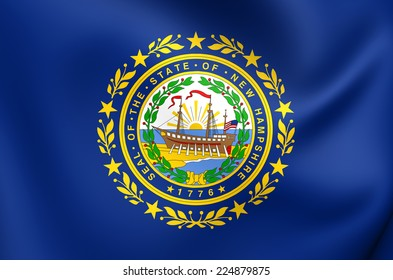 Flag of New Hampshire, USA. Close Up.