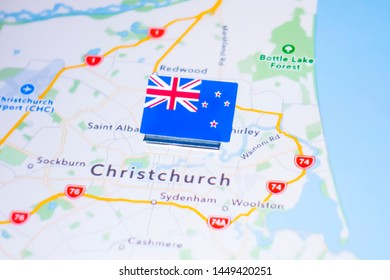 City Map Of New Zealand.Christchurch City Map Stock Photos Images Photography Shutterstock