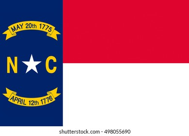 Flag of North Carolina is a state in the southeastern region of the United States