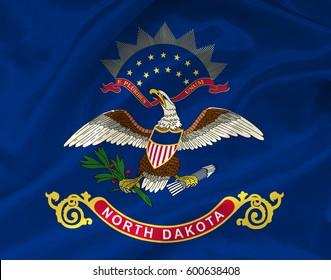 Flag of North Dakota state (USA)