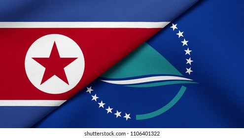 Flag of North Korea and Secretariat of the Pacific Community