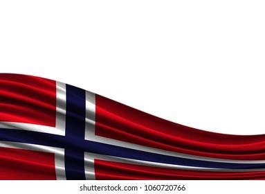 flag of Norway isolated on white background