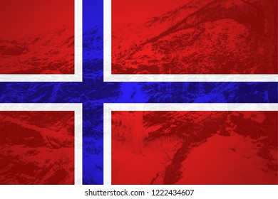 Flag of Norway in minimalistic design and high quality