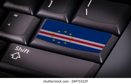 Flag on button keyboard, flag of Cape Verde