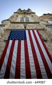 Flag on a Church