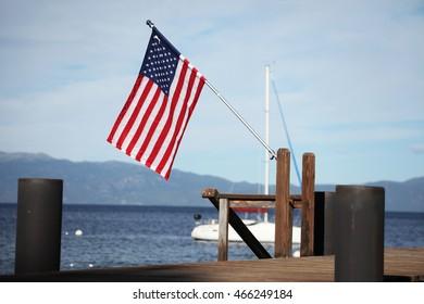 flag on dock #2