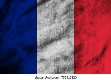 Flag on old French fabric