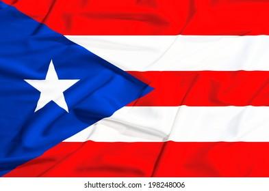 flag on a silk drape waving