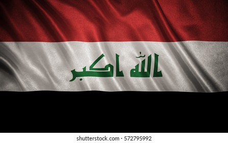 Flag with original proportions. Flag of the Iraq
