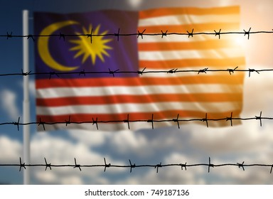 Flag with original proportions. Flag of the Malaysia