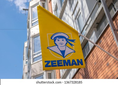 Flag Outside Of The Zeeman Store At Amsterdam The Netherlands 2019