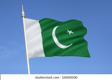 Flag of Pakistan - adopted by the Constituent Assembly on August 11, 1947, three days before the country's independence, when it became the official flag of the Dominion of Pakistan.