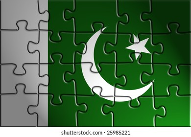 Flag of Pakistan, national country symbol illustration