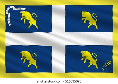 Flag of Piedmont is one of the 20 regions of Italy. 3d illustration