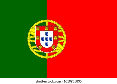 Flag of Portugal. Symbol of Independence Day, souvenir sport game, button language, icon.
