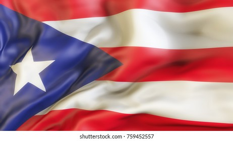 Flag, Puerto Rico, Waiving Flag of Puerto Rico