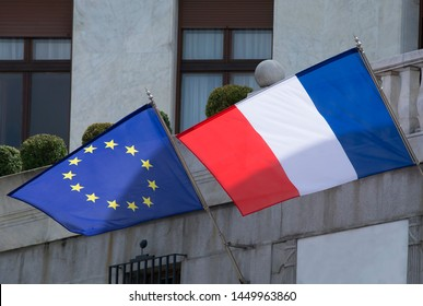 Flag of the Republic of France and the European Union