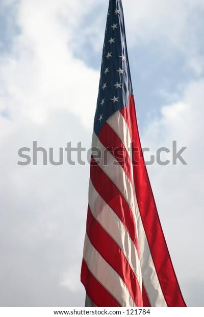 Flag at rest