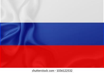 Flag of Russia waving Illustration