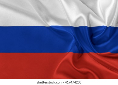 Flag of Russia waving in the wind.