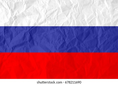 flag of russia,flag on crumpled paper