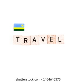 """The Flag of Rwanda and """"TRAVEL"""" Wooden Block Letters"""