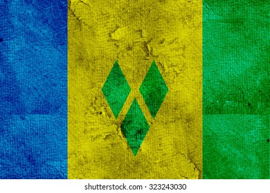 The flag of Saint Vincent and the Grenadines