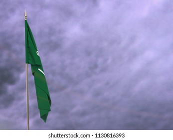 Flag of Saudi Arabia hanging down dangling