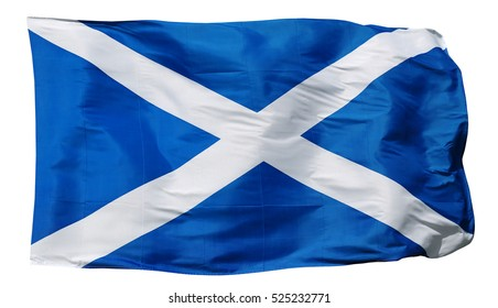 Flag of Scotland, isolated on white background