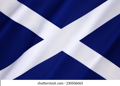 Flag of Scotland - also known as Saint Andrews Cross or the Saltire, is the national flag of Scotland.