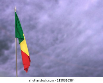 Flag of Senegal hanging down dangling