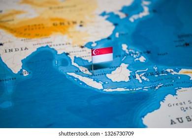 Singapore Global Map Images, Stock Photos & Vectors ...